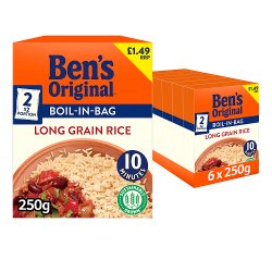 Bens Original Boil In Bag PMP £1.49 Long Grain Rice 2 x 125g