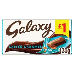 Galaxy Salted Caramel Chocolate Price Marked Block 135g