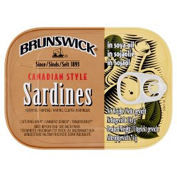 Brunswick Canadian Style Sardines in Soya Oil 106g