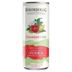 Rekorderlig Premium Swedish Cocktails Strawberry-Lime Cider with Vodka 250ml