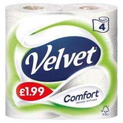 Velvet Comfort 4 Toilet Rolls