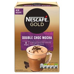 Nescafe Gold Double Choc Mocha Instant Coffee 8 x 23g Sachets