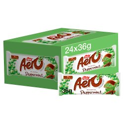 Nestlé® Aero® Peppermint Mint Chocolate Bar 36g