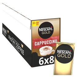 Nescafe Gold Cappuccino Instant Coffee 8 x 14.5g Sachets PMP £2.50