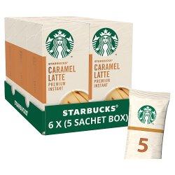 Starbucks Caramel Latte Premium Instant Coffee 5 x 21.5g Sachets
