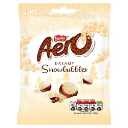 Aero Snowbubbles Chocolate Sharing Bag 80g