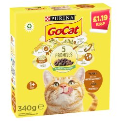 GO-CAT with Chicken and Turkey mix with Vegetables Dry Cat Food 340g PMP