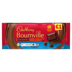 Cadbury Bournville Old Jamaica Dark Chocolate Bar £1 100g