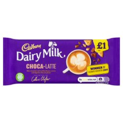 Cadbury Dairy Milk Choca-Latte Coffee Chocolate Bar £1 122.5g