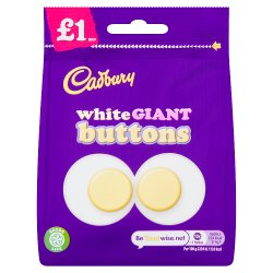 Cadbury White Giant Buttons Chocolate Bag £1 95g