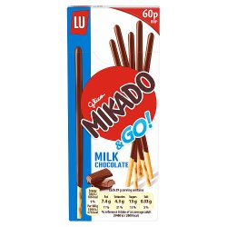 Mikado Milk Chocolate Biscuits 60p 39g