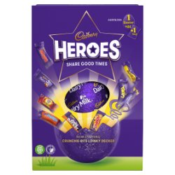 Cadbury Heroes Large Easter Egg & Chocolate Assortment Bag 264g