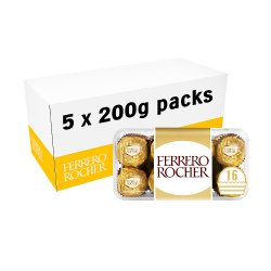 Ferrero Rocher Chocolate Pralines Gift Box of Chocolate 16 Pieces (200g)