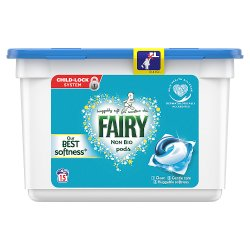 Fairy Non Bio Pods Washing Liquid Capsules 15 Washes