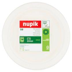 Nupik 50, 17cm Fibre Compostable Paper Plates