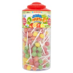 Vidal Lotta Lollies Assorted Fruit Lollipops 150 Pieces
