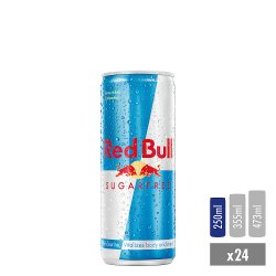 Red Bull Energy Drink, Sugar Free, 250ml (24 Pack)