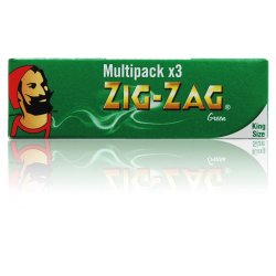 Zig-Zag King Size Green Multipack x 3