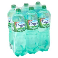 Volvic Sparkling Carbonated Natural Mineral Water 6 x 1.5L