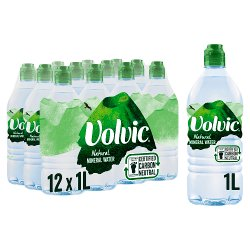 Volvic Natural Mineral Water 12 x 1L