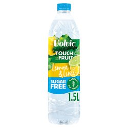 Volvic Touch of Fruit Sugar Free Lemon & Lime Natural Flavoured Water 1.5L