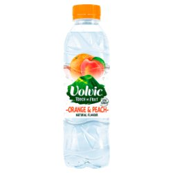 Volvic Touch of Fruit Low Sugar Orange & Peach Natural Flavour 500ml