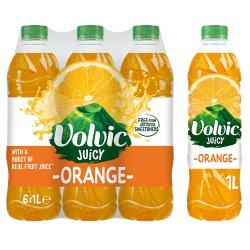 Volvic Juicy Orange Water 6 x 1L