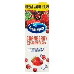 Ocean Spray Cranberry & Strawberry 1 Litre