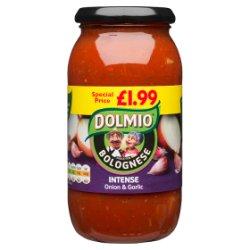DOLMIO® Sauce for Bolognese Intense Onion & Garlic 500g
