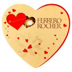 Ferrero Rocher Valentine's Day Heart Shaped Box of Chocolate 10 Pieces (125g)
