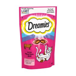 Dreamies Adult 1+ Cat Treats with Beef 60g