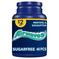 Airwaves Menthol & Eucalyptus Sugar Free Chewing Gum Bottle 46 Pieces