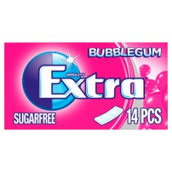 Extra Bubblegum Chewing Gum Sugar Free 14 Sticks