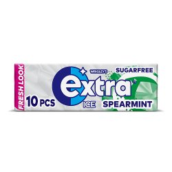 Extra Ice Spearmint Chewing Gum Sugar Free 10 Pieces