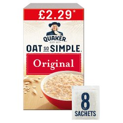 Quaker Oat So Simple Original Porridge Sachets £2.29 RRP PMP 8x27g