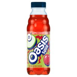 Oasis Apple Cherry Sours 500ml PMP £1