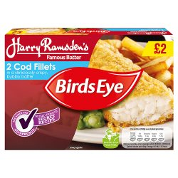 Birds Eye 2 Cod In Batter PM GBP2.00