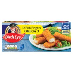 Birds Eye 12 Fish Fingers Omega 3 336g