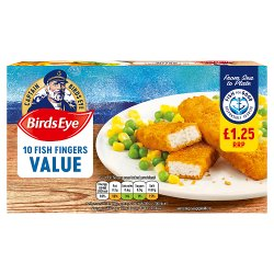 Birds Eye Value 10 Fish Fingers 250g