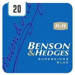 Benson & Hedges Superkings Blue 20 Cigarettes
