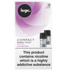 Logic Compact E-Liquid Pods Berry Mint Flavour 12mg 2 x 1.7ml