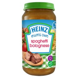 Heinz 7+ Months Mashed Mum's Own Spaghetti Bolognese 200g