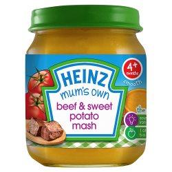 Heinz 4+ Months Smooth Mum's Own Beef & Sweet Potato Mash 120g