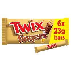 Twix Chocolate Biscuit Fingers Multipack 6 x 23g