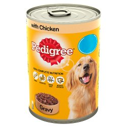 Pedigree Dog Food Tin Chicken in Gravy 400g MPP 85p