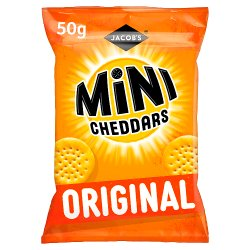 Jacob's Mini Cheddars Original Cheese Snacks 50g