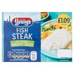 Young's Fish Steak in a Creamy Parsley Sauce PMP £1.09 140g