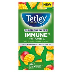 Tetley Super Green Tea Immune Pineapple & Mango x25