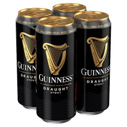 Guinness Draught Stout Beer 4 x 470ml Can