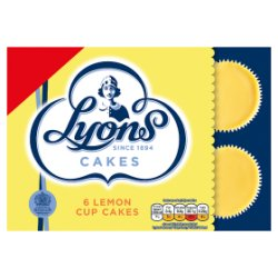 Lyons Cakes 6 Lemon Cup Cakes